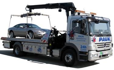 Abschleppen in Wien Pauk Autotransporte PKW Transporte