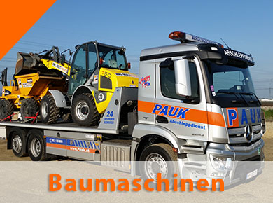 Abschleppdienst Pauk Baumaschinen-transporte Wien