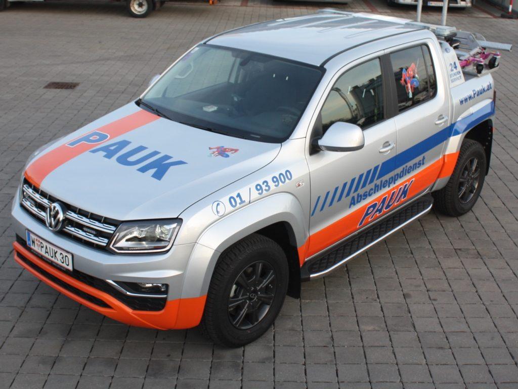 VW Amarok - Abschleppauto füt PKW u. Motorräder aus Tiefgaragen