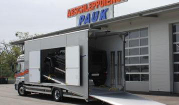 Abschleppdienst Wien PAUK - geschlossene Autotransporte